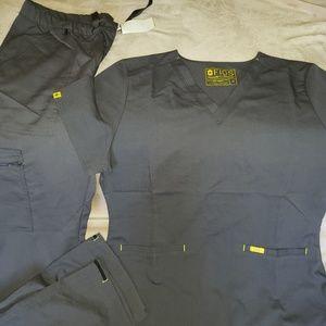 Figs scrub set grey size medium